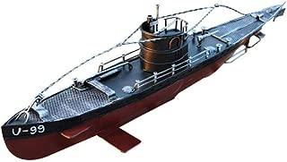 LVSSY-Maqueta Submarino Buques de Guerra Kits de Barcos Modelos de Acorazados de Barcos de La Armada para Accesorios de Tiro de Ventana de Colección (52 * 8.5 * 14CM)