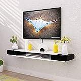 HUANYARI Floating Regal Wand hängen TV-Kabinett-Wand-Hintergrund-Speicher-Rack DVD-Set-Top-Box...