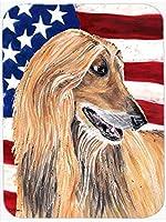 Caroline's Treasures SC9506MP Afghan Hound USA Patriotic American Flag Mouse Pad, Hot Pad or Trivet, Large, Multicolor [並行輸入品]