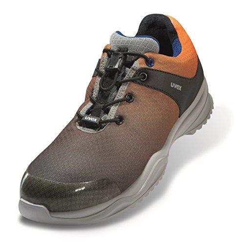 Uvex Sportsline Arbeitsschuhe - Sicherheitsschuhe S1P SRC ESD - Grau-Orange, Größe:43
