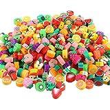 WEIMEIDA JQBB503 100 cuentas sueltas de arcilla polimérica con forma de fruta, 10 mm, en rodajas, color mixto, para manualidades, accesorios de joyería SGNTZ (color: 1)