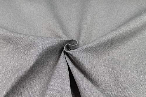 Tessuto Idrorepellente al Mezzo Metro - Stoffa ANTIMACCHIA in Poliestere - Oxford Canvas - Morbido e Resistente - Altezza 140 cm - 1 QTA = 50 cm - 21 Colori (Grigio)