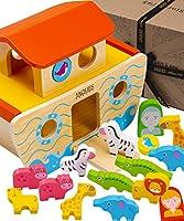 Jaques of London Sortierspielzeug für Tierformen Let's Play Wooden Noah's Ark - Qualitäts-Holzspielzeug und Spiele seit 1795