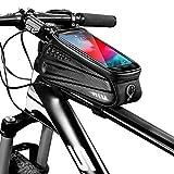 Heqianqian Fahrrad Rahmentasche Fahrrad Front Beam Tasche Handy Touchscreen Oberrohrtasche...