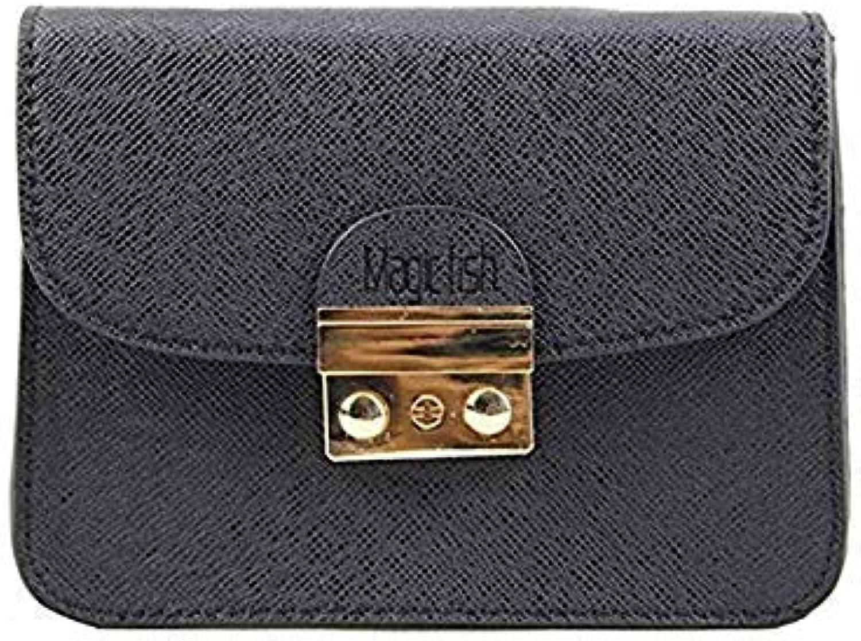 Famous Designer Women Bag Chain Solid Women Leather Handbags Mini Lady Shoulder Bag Fashion Casual Woman Messenger Bags c2223 l Black New Logo 18x8x14CM