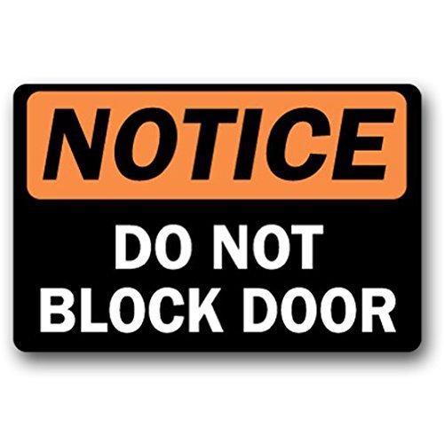 Niet blokkeren Deur - Deurmat Entree Vloermat Grappige Deurmat Indoor Outdoor Non-woven Stoffen Top 30 door 18 Inch