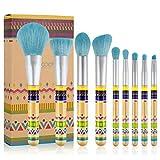 9 Pinceles De Maquillaje - Fundación Pelo Sintético Sombra De Ojos En Polvo Pincel De Colorete, Maquillaje Herramientas Profesionales, Principiantes