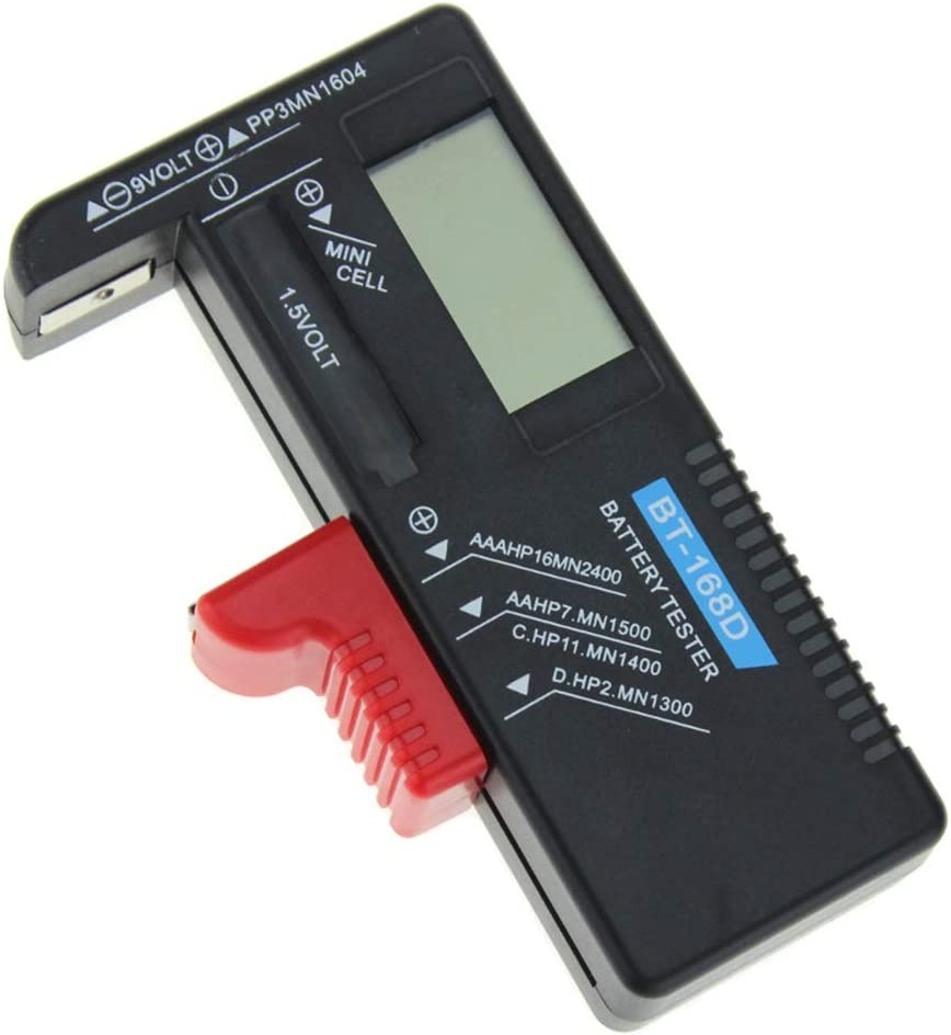 Battery Tester, Universal BT-168D Battery Test Volt Checker with LCD Display For 9V 1.5V And AA AAA Cell Batteries