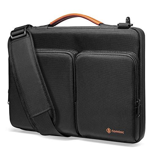 tomtoc Bolso Bandolera para 12.3 Surface Pro X/7/6/5/4, 13 MacBook Air M1/A2337 A2179 2018-2021, MacBook Pro M1/A2338 A2251 A22892016-2021, Funda Protectora de Material Ecológico y Reciclado