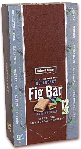 Nature's Bakery Whole Wheat Blueberry Fig Bars, 2 Oz Bar (Pack of 36)