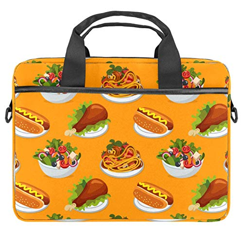 Laptop Case Laptop Briefcase 14.5 Inch Delicious Food Background Pattern Carry On Handle Case for Computer Notebook Business Casual or School