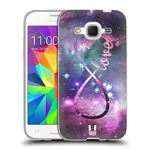 Head Case Designs Amore Infinity Collection Cover in Morbido Gel Compatibile con Samsung Galaxy Core Prime