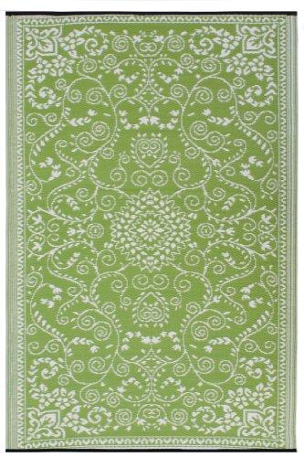 Fab Hab - Murano - Limettengrün & Creme - Teppich/ Matte für den Innen- und Außenbereich (180 cm x 270 cm)
