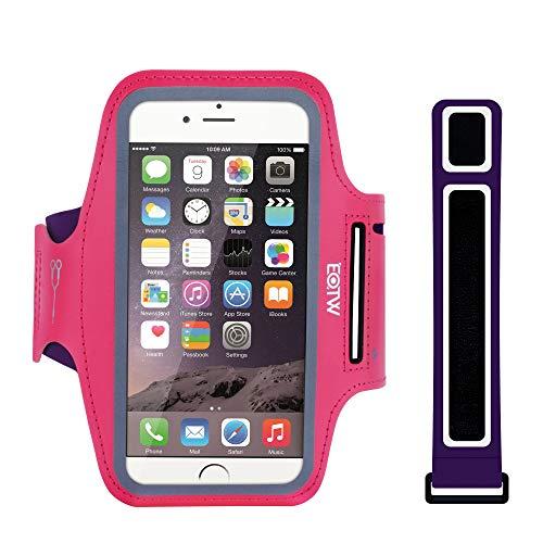 Cinta deportiva para el brazo con funda para el teléfono móvil de EOTW, apta para iPhone, Samsung, HTC, etc., Pink_ 4,0 Zoll