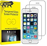 Divine Tempered Glass Screen Protector for Apple iPhone 5 / 5s / 5c with Installation kit (Full Transparent) Pack 2