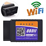 Gemwon OBD2 Wifi Scanner, Car OBDII Code Reader ELM327 Wireless Adapter, Auto Diagnostic Scan Tool for Vehicles Engine Datail Checking (Fits for iOS and Android Phone)