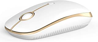 2.4GHz Wireless Bluetooth Mouse, Jelly Comb Dual Mode Slim Wireless Mouse with 2400 DPI Compatible for PC, Laptop, Mac, An...