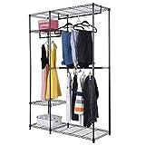 Wichai Shop WShop 48'x18'x71' Closet Organizer Garment Rack Portable Clothes Hanger Home Shelf
