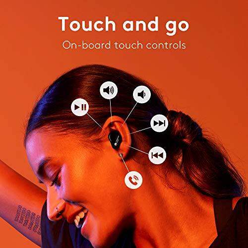 Cambridge Audio Auriculares Inalámbricos Melomania 1 – Batería de Duración Ultra Larga (45 Horas) - Estuche Cargador - Auriculares Bluetooth 5.0 – Auriculares Intraurales Impermeables – Negro