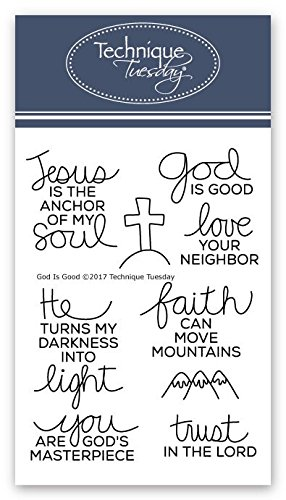 God is Good Clear Stamps | Stamps Christian | Clear Rubber Stamps | Photopolymer Stamps | Card Making Supplies