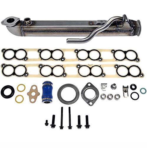 APDTY 015373 EGR Cooler Kit With Gaskets (Upgraded Stainless Straight Tube Design) For...