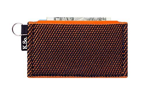 Minimalist Small Wallet Card Holder - Minimal, Slimz Orange/Blue, Size One Size
