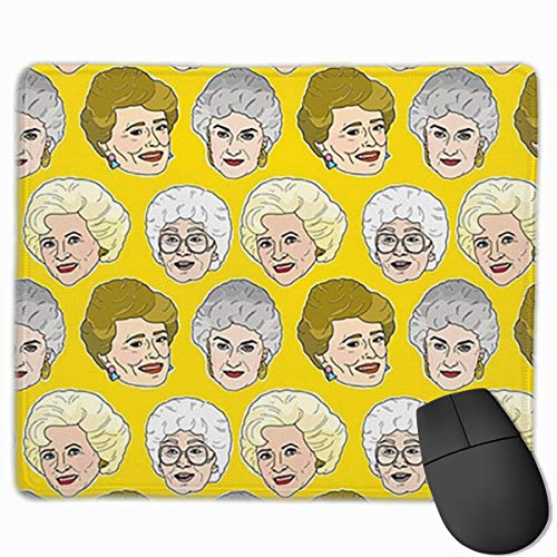 Mouse Pad Customized Golden Girls Illustration in Stay Golden Yellow Non-Slip Rubber Gaming Mouse Pad for Working Office Laptop PC Computer 11.8 X 9.8 Inch