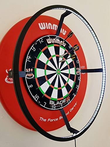DARTS Sport Edition Winmau Blade 5 Komplettset mit Surround rot und Target Corona Lichtring