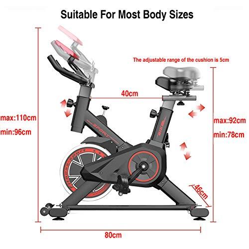 513eU2YTTiL - Bicicleta Estática| Bicicleta de Interior ,6 Ajustes de Altura de Reposabrazos y Cojines,Magnetorresistencia ilimitada,Monitor LCD de Frecuencia Cardíaca, Entrenamientos cardiovasculares en casa.