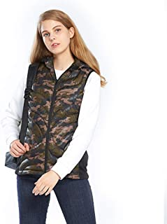 Electric Heated Vest, Charging Heated Jacket 5 Heating Pads at Abdomen & Waist, Electric Heated Vest, USB Warm Lightweight