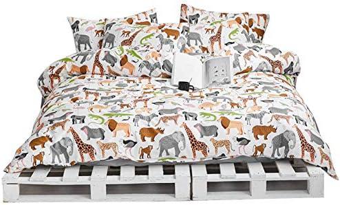 AOJIM Elephant Flamingo Lion Dinosaur Deer Zebra Duvet Cover Set Animals Zoo Bedding Pillowcases product image