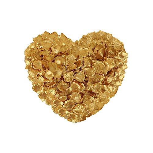 Neo LOONS 1000 Pcs Artificial Silk Rose Petals Decoration Wedding Party Color Gold