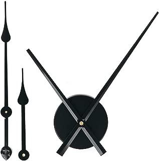 EMOON 2 Pair Hands 3D Clock Movement DIY Large Wall Clock Quartz Clock Mechanism for Home Art Decor (Black)