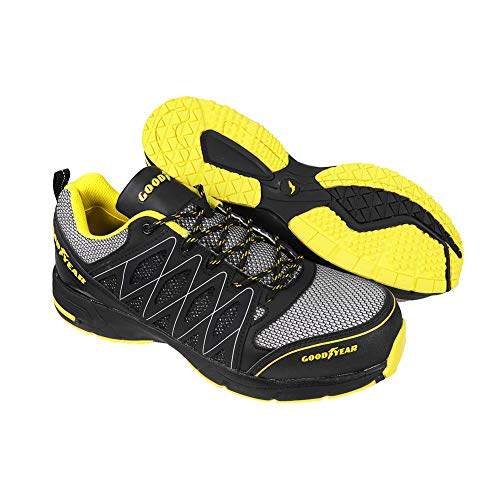 Goodyear GYSHU1502, Zapatillas de Seguridad para Hombre, Negro (Black/Yellow), 44 EU