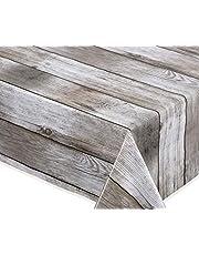 BEAUTEX Beige tafelzeil, glad afwasbaar, tuin, tafelkleed, rond, ovaal, hoekig, grootte naar keuze
