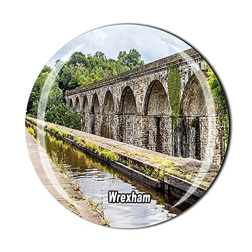Wrexham Wells Wales UK - Imán para refrigerador, regalo de recuerdo de viaje con cristal 3D para decoración del hogar y la cocina