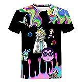 YUYUBAOER Camiseta de Manga Corta Unisex Rick y Morty para niños y Adultos, 3D Camisa Impresa Casual Chaleco tripulante Cuello de Verano t Shirts (100 cm - 5XL) 1-XXL