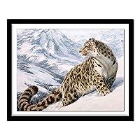 大人のためのDIY5Dダイヤモンド絵画 刺繡クロスステッチ、キャンバスの壁の装飾のためのクロスステッチアートクラフト Diamant Animals Leopard Arrivals 103Dd 50X40cm