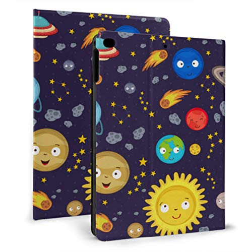XiexHOME Ipad Girl Cover Set Of Planets With Faces On Stars Girly Ipad Case For Ipad Mini 4/mini 5/2018 6th/2017 5th/air/air 2 With Auto Wake/sleep Magnetic Unique Ipad Covers