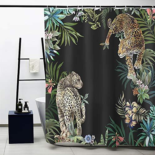 Obal Duschvorhang, Badezimmer-Vorhänge, wasserdicht, Anti-Schimmel-Polyester-Stoff, schwere Dekoration, mit Vorhanghaken, waschbar, 180 cm x 180 cm