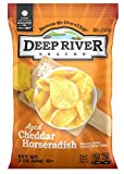 Deep River Snacks Kettle Cooked Potato Chips, Aged Cheddar Horseradish, 2 Ounce, Pack of 24