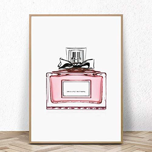 baodanla Geen frame Roze Stijl Posters en Prints Monstera Canvas ng Wall Art Decoratieve Nordic Parfum Beeld voor Woonkamer Decoratie
