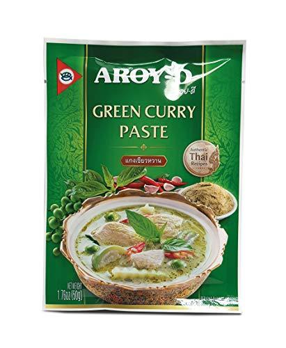 Aroy-D - Pasta di curry verde per dare un tocco orientale ai tuoi pasti 50gr