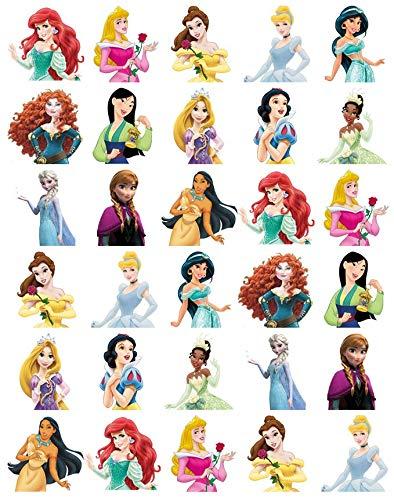 Cupcake-Topper Disney Prinzessin, essbares Oblatenpapier, für Geburtstagskuchen, 30 Stück