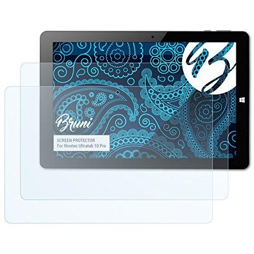Bruni Schutzfolie kompatibel mit Ninetec Ultratab 10 Pro Folie, glasklare Bildschirmschutzfolie (2X)