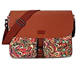 BAOSHA Women's Satchel Messenger Bag Cross Body Canvas Bags Bookbag MS-01 (Multicolored)