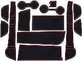 NADAENDR Alfombrilla antideslizante para puerta de coche para Lexus UX UX250h UX200 250 250h 200 2015 ~ 2019, cojín de taza estera de polvo Lnterior antideslizante puerta ranura Mat.