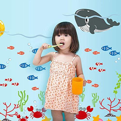 Blue Delphin Unterwasserwelt Kinderzimmer Dekoration PVC selbstklebend abnehmbare wasserdichte Wandaufkleber Höhe Aufkleber-U-Boot-Wal