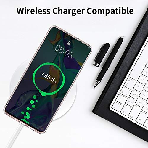 UNBREAKcable Huawei P30 Pro Hülle [stoßdämpfend, Nicht vergilbend] kristallklarer, weicher TPU Handyhülle mit Harter Rückseite aus PC für das Huawei P30Pro – Transparent - 6