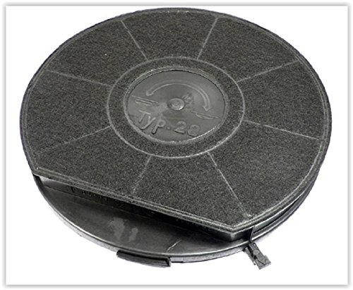 Filtre a charbon type 28 240mm- 500 g hotte whirlpool akr438